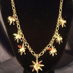 Oscar de la Renta Signed Starburst Necklace